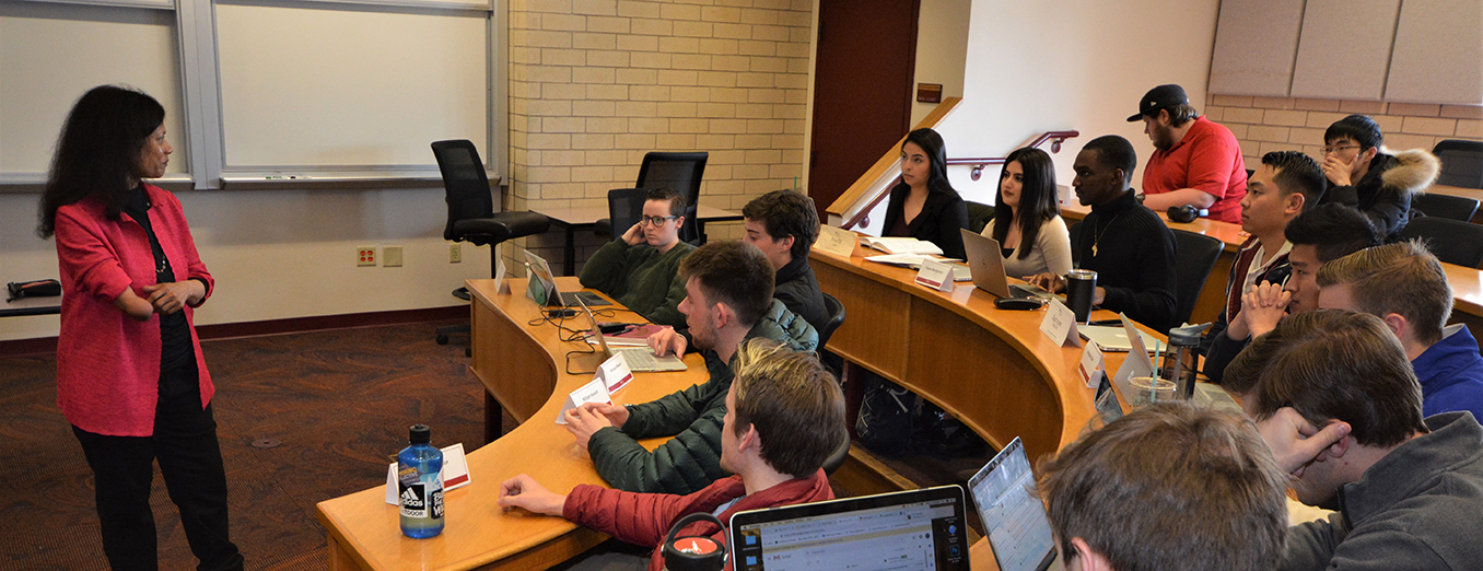 Students and professor in a Daniels College of Business class