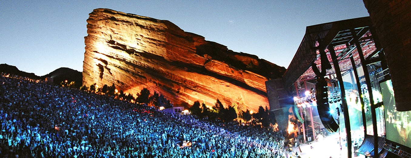 Photo of a concert at Red Rocks Amphitheater